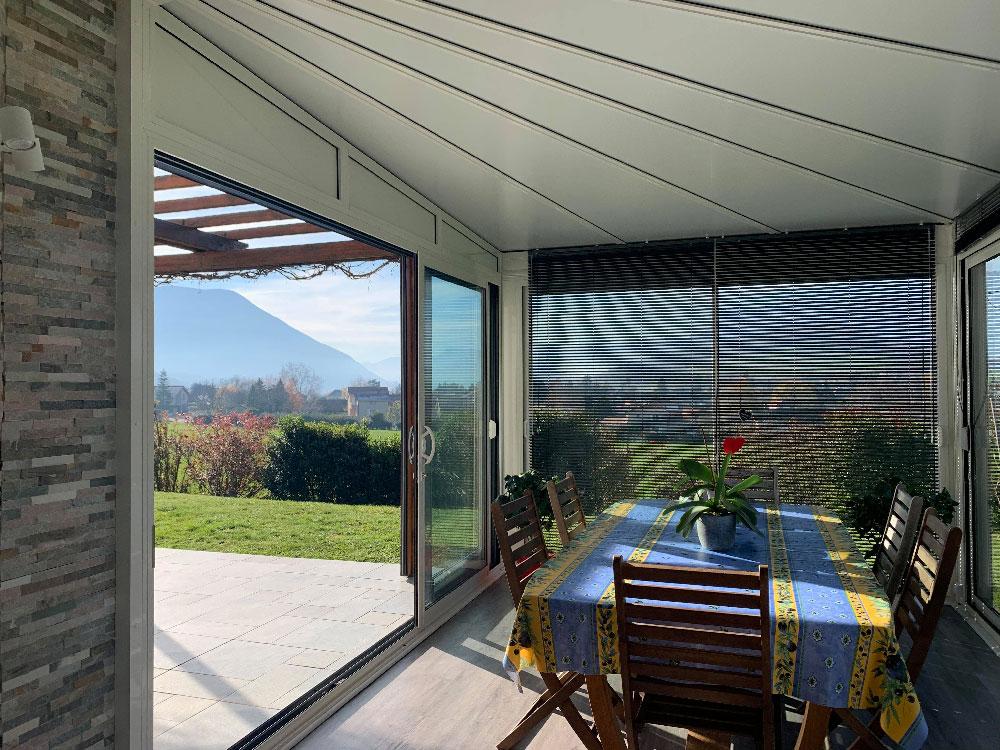 Veranda toiture étoile Haute-Jarrie (38) - Véranda réalisé par Atrio