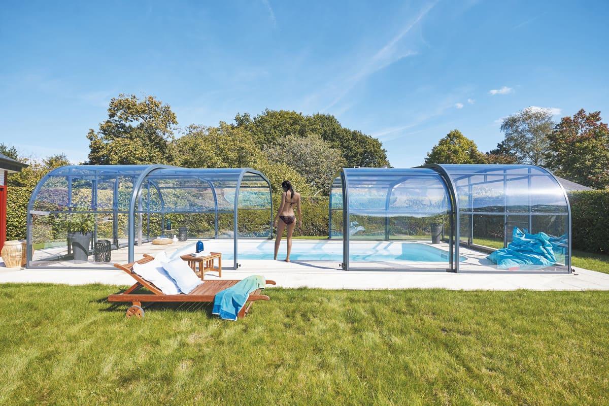 Abri de piscine gamme Elliptik haut Atrio